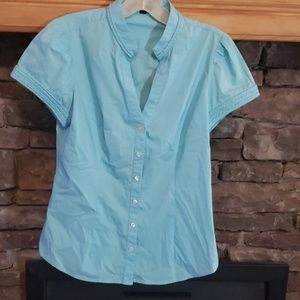 EXPRESS  VNECK BUTTON UP SZ S